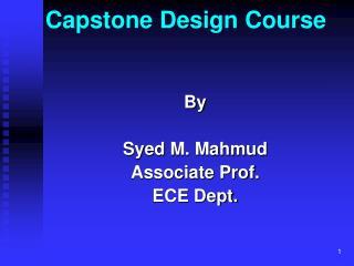 Capstone Design Course