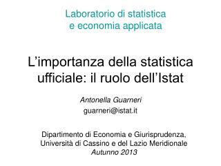 L'importanza della statistica ufficiale: il ruolo dell'Istat