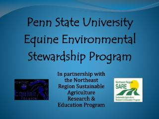 Penn State University  Equine Environmental  Stewardship Program