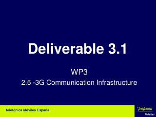 Deliverable 3.1