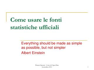 Come usare le fonti statistiche ufficiali