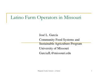 Latino Farm Operators in Missouri