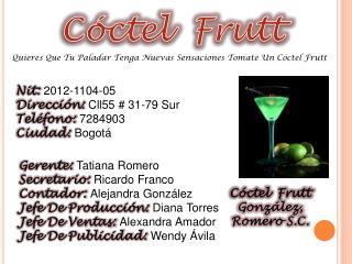 Cóctel  Frutt