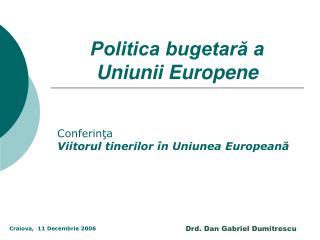 Politica bugetară a Uniunii Europene