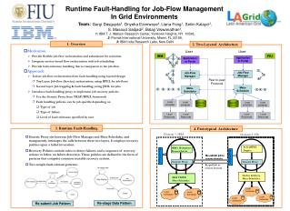 Runtime Fault-Handling for Job-Flow Management  In Grid Environments