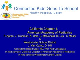 Connected Kids Goes To School  Healthy  People 2010 grant