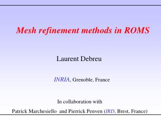Mesh refinement methods in ROMS