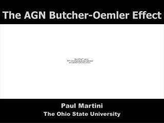 The AGN Butcher-Oemler Effect