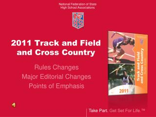 2011 Track and Field  and Cross Country