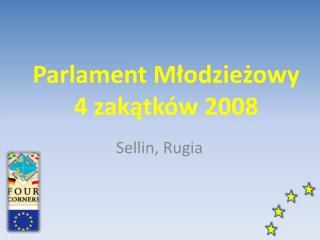 Parlament Młodzieżowy 4 zakątków 2008