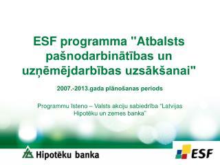 ESF programma