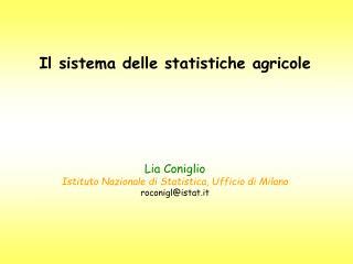 Il sistema statistico sull'agricoltura