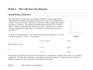Module 8     More with Space-time Diagrams