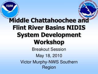 Middle Chattahoochee and Flint River Basins NIDIS System Development Workshop
