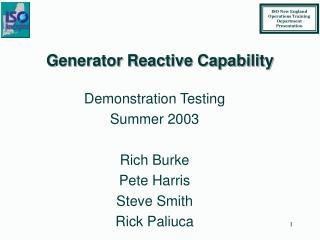 Generator Reactive Capability