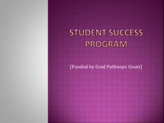 Student Success Program
