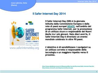 Il  Safer  Internet  Day  2014