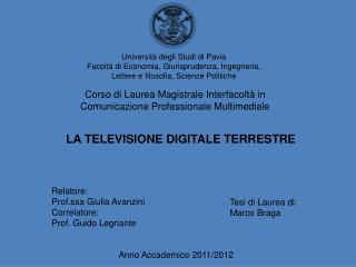 Anno Accademico 2011/2012