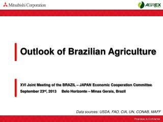 Outlook of Brazilian Agriculture
