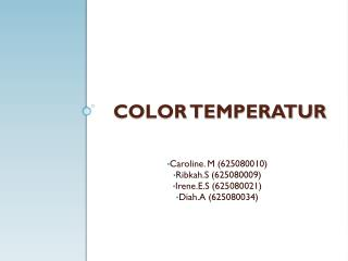 COLOR TEMPERATUR