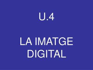 U.4 LA IMATGE DIGITAL