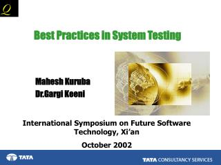 Best Practices in System Testing