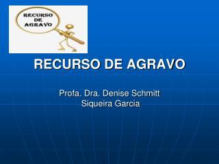 RECURSO DE AGRAVO  Profa . Dra. Denise Schmitt   Siqueira Garcia