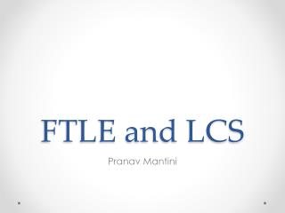 FTLE and LCS