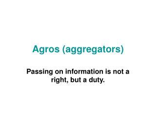 Agros (aggregators)