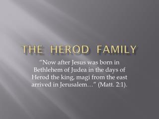 THE  HEROD  FAMILY