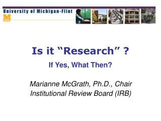 "Is it ""Research"" ?"