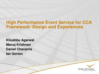High Performance Event Service for CCA Framework: Design and Experiences