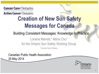 Creation of New Sun Safety Messages for Canada