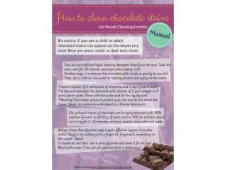 Short manual on how to deal with chocolate stains on your ca
