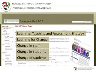 Learning, Teaching and Assessment Strategy