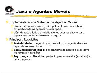 Java e Agentes Móveis