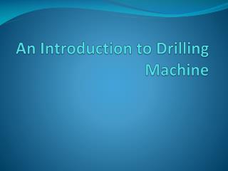 Slim Drill and Wagon Drill