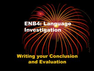 ENB4: Language Investigation