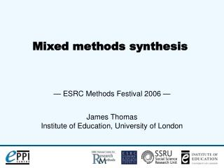Mixed methods synthesis