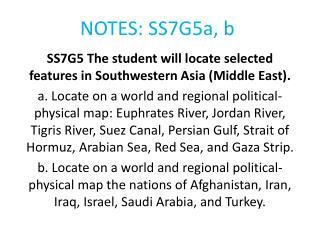 NOTES: SS7G5a, b