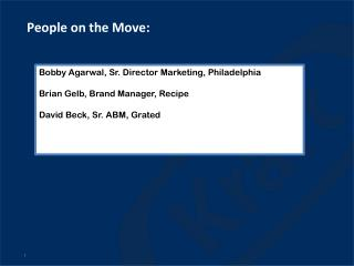 People on the Move: