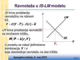 Ravnoteža u  IS-LM  modelu