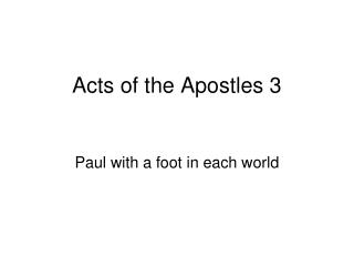 Acts of the Apostles 3