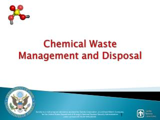 Chemical Waste Management and Disposal