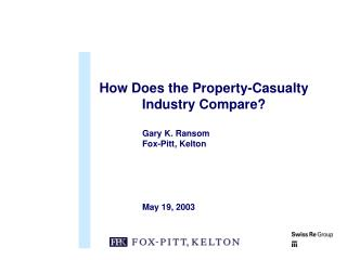 How Does the Property-Casualty Industry Compare?