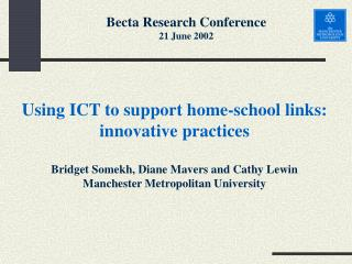 Using ICT to support home-school links: innovative practices