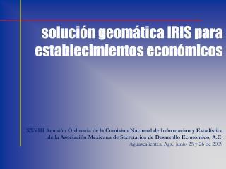 solución  geomática  IRIS para establecimientos económicos