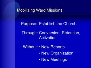 Mobilizing Ward Missions