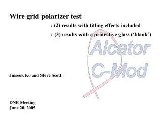 Wire grid polarizer test   : (2) results with titling effects included