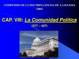 CAP. VIII:  La Comunidad Pol�tica  (377 � 427)